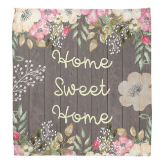 Lantligt trä för blommigt för hem för scarf