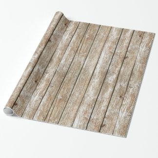 Lantligt trä för härlig landshabby chic presentpapper