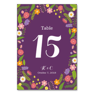 Lantligt trädgårds- bröllop för blomma blom- ram bordsnummer