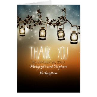 lantligt trädgårds- gifta sig för ljus tackar dig  OBS kort