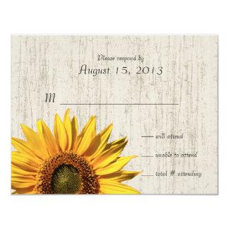 Lantligt Wedding/svar för solros 10,8 X 14 Cm Inbjudningskort