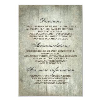 Lantligt Wood bröllop specificerar - information 8,9 X 12,7 Cm Inbjudningskort