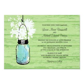 Lantligt Wood gifta sig för för Masonburk och 12,7 X 17,8 Cm Inbjudningskort