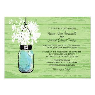 Lantligt Wood gifta sig för för Masonburk och vild Anpassningsbara Inbjudningskort