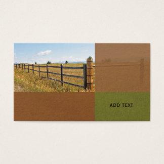 lantligt wood staket vid en prärie i Colorado Visitkort