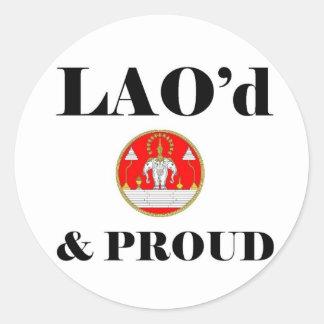 LAO'd & STOLT klistermärkear Runt Klistermärke