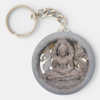 Laos Buddha Keychain Rund Nyckelring