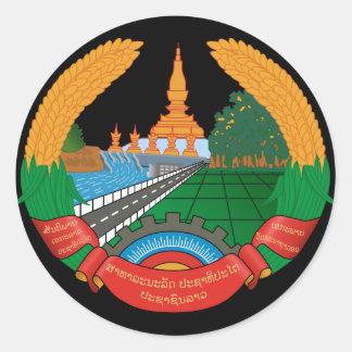 laos emblem runt klistermärke