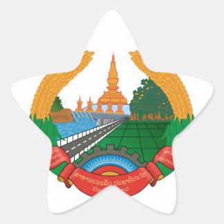 laos emblem stjärnformat klistermärke