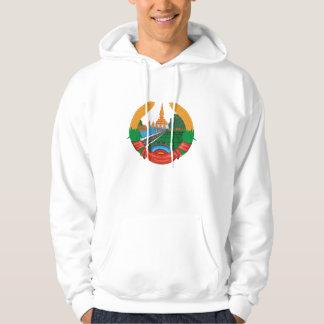 laos emblem tröja med luva