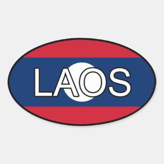 Laos Euroklistermärke Ovalt Klistermärke