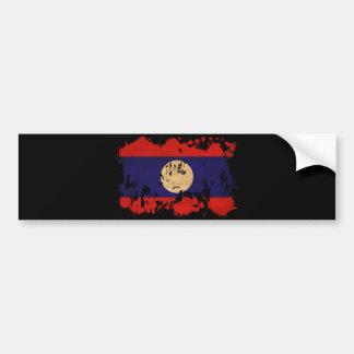 Laos flagga bildekal