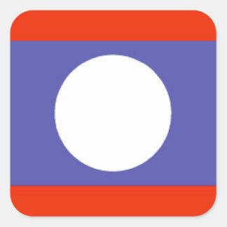 Laos flagga fyrkantigt klistermärke