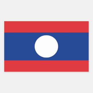 Laos flagga rektangulärt klistermärke