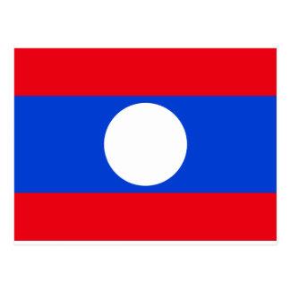 Laos flagga vykort