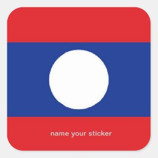 Laos flaggaklistermärke fyrkantigt klistermärke