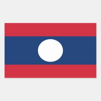 Laos flaggaklistermärke rektangulärt klistermärke