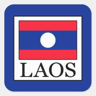 Laos Fyrkantigt Klistermärke