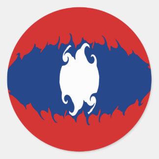 Laos Gnarly flagga Runt Klistermärke