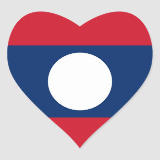 laos hjärtformat klistermärke