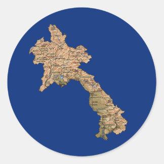 Laos kartaklistermärke runt klistermärke
