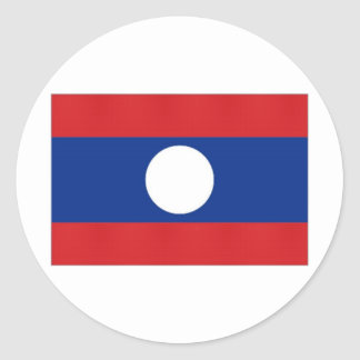 Laos medborgareflagga runt klistermärke