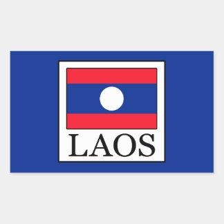 Laos Rektangulärt Klistermärke