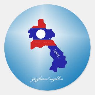 Laos rundaklistermärkear runt klistermärke