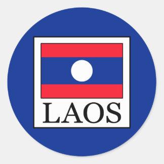 Laos Runt Klistermärke