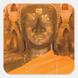 Laos Vientiane, en av 6840 Buddha bilder i 2 Fyrkantigt Klistermärke