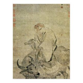 Laotisk-tzu ridning hans oxe, kines, Ming dynasti Vykort