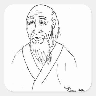 Laotiska Tzu Fyrkantigt Klistermärke