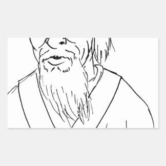 Laotiska Tzu Rektangulärt Klistermärke
