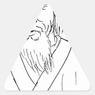Laotiska Tzu Triangelformat Klistermärke