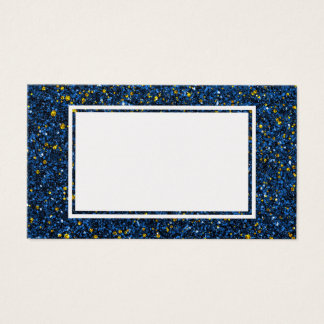 Lapis blått och tom visitkort för guld- glitter