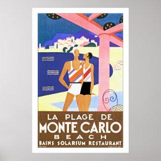 LaPlage de Monte - carlo Poster