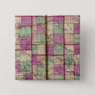 LaPorte län och St Joseph län Standard Kanpp Fyrkantig 5.1 Cm