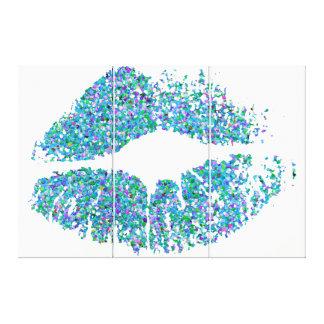 Läppar #31 för multifärgadgrusglitter canvastryck