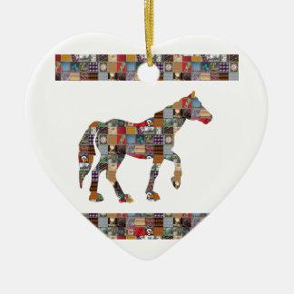 Lappar den konstnärliga samlingen för HÄSTEN Julgransprydnad Keramik
