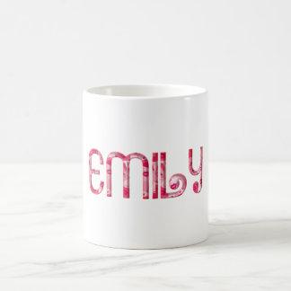 Läppar för Emily mugg för typografi för känd