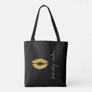 Läppar för namn för salong för Makeupkonstnär Tygkasse