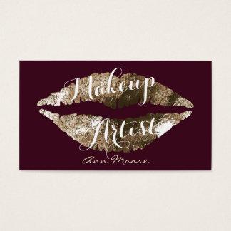 Läppar för smink för stylist för Makeupkonstnär Visitkort
