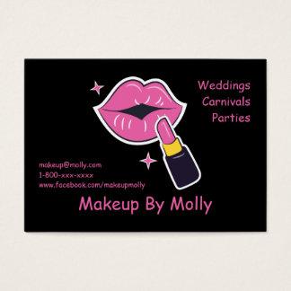 Läppar och läppstift för Retro popkonst rosa Visitkort
