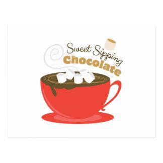 Läppja choklad vykort
