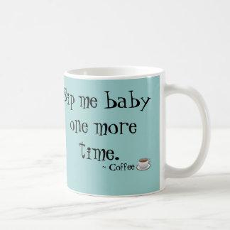 Läppja mig babykaffemuggen vit mugg
