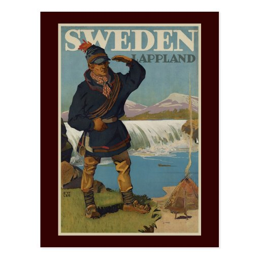 Lappland sverige vykort