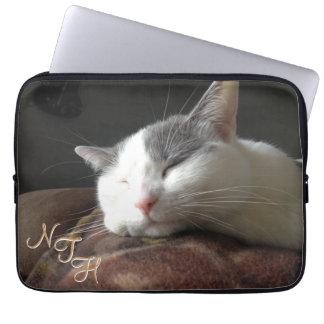 Laptop sleeve 13 för Momo kattNeoprene flytta sig