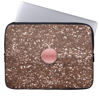 Laptop sleeve för glitter för Fauxrosor 3D rosa