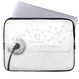 Laptop sleeve för maskrosinspirationNeoprene