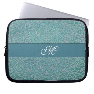 Laptop sleeve för Monogram för snöre för Datorskydd